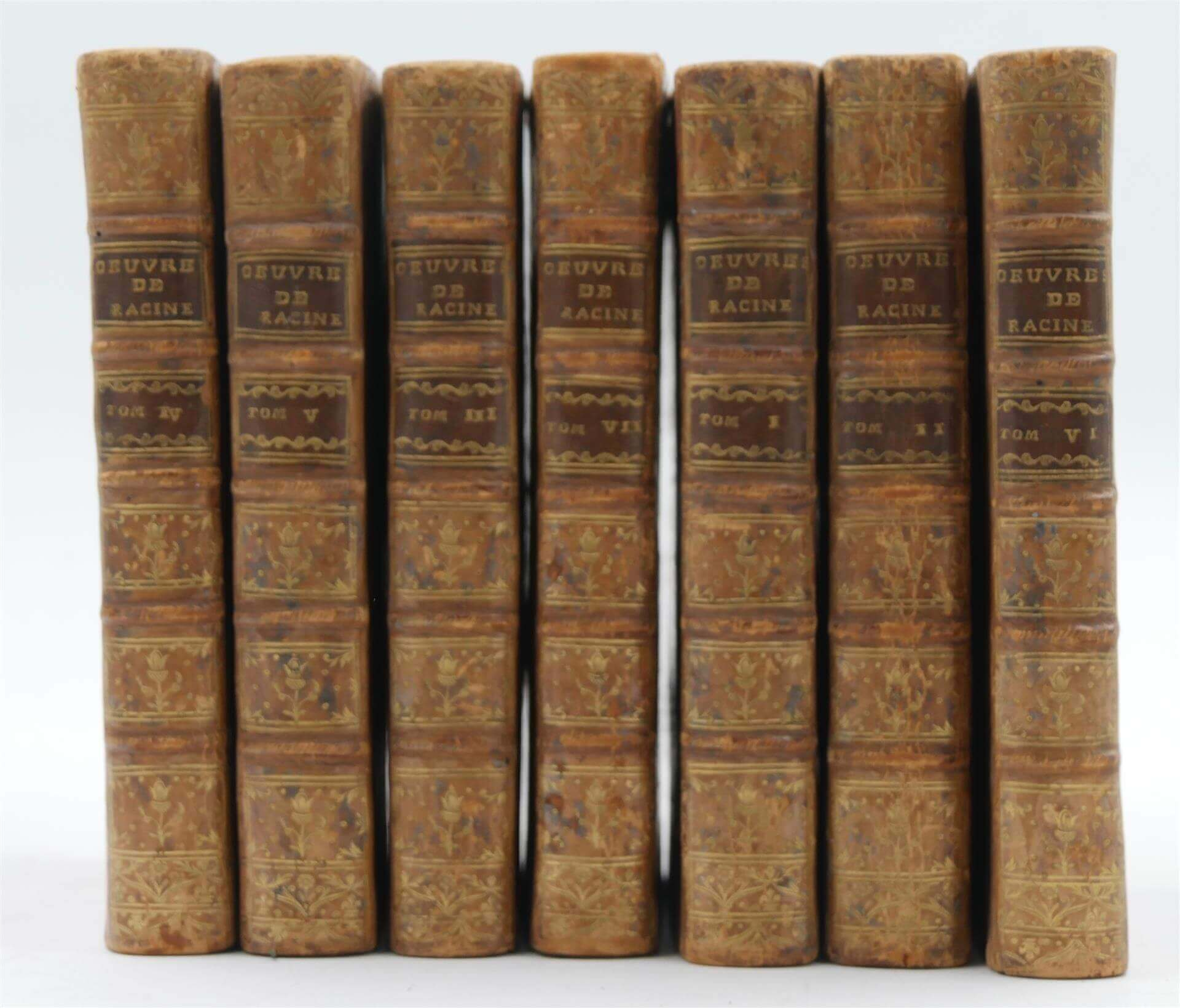 RACINE - Oeuvres - 1768 - 7 tomes